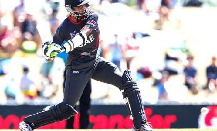 world cup 2015 ireland wins toss sends uae in to bat