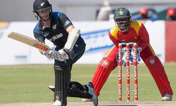new zealand beat zimbabwe by 38 runs clinch odi series 2 1