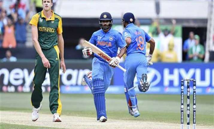 world cup 2015 india vs south africa scoreboard match 13