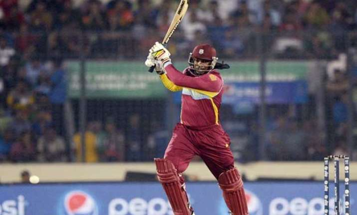 sa vs wi gayle smashes 77 from 31 as wi beats south africa