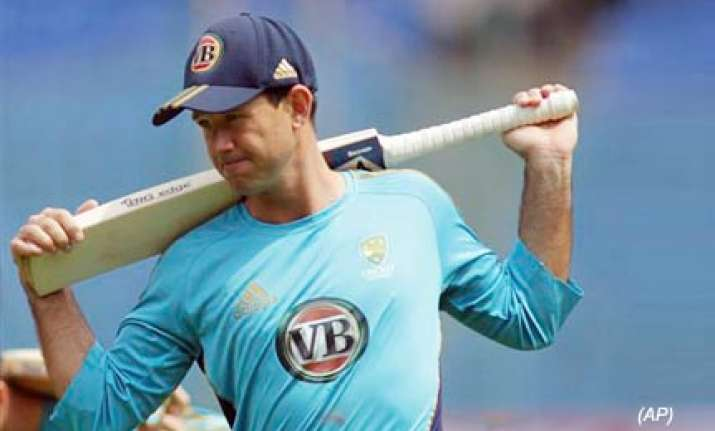 ponting s men hold net practice in bangalore