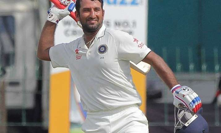 3rd test day 2 cheteshwar pujara ton helps india claw back