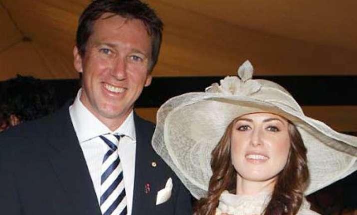 glenn mcgrath weds sara leonardi in secret sydney ceremony