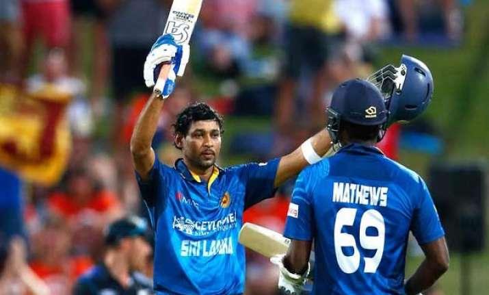 nz vs sl dilshan ton leads sri lanka to win over new zealand