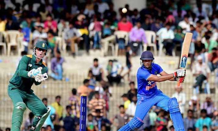 mayank unmukt star in crushing india a win