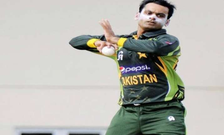 hafeez will be in india for bowling tests shaharyar