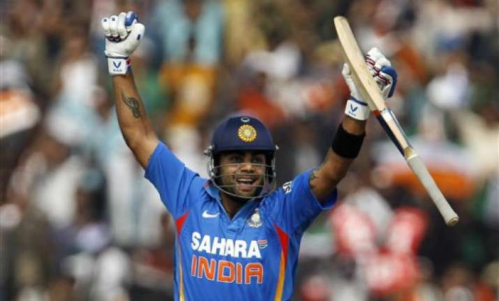kohli scores a ton as india take 1 0 lead in odi series