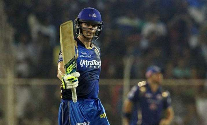 ipl 8 steve smith leads rajasthan to terrific win over