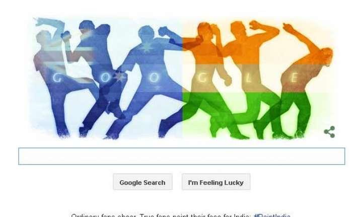 google doodle basks in india australia cricket frenzy