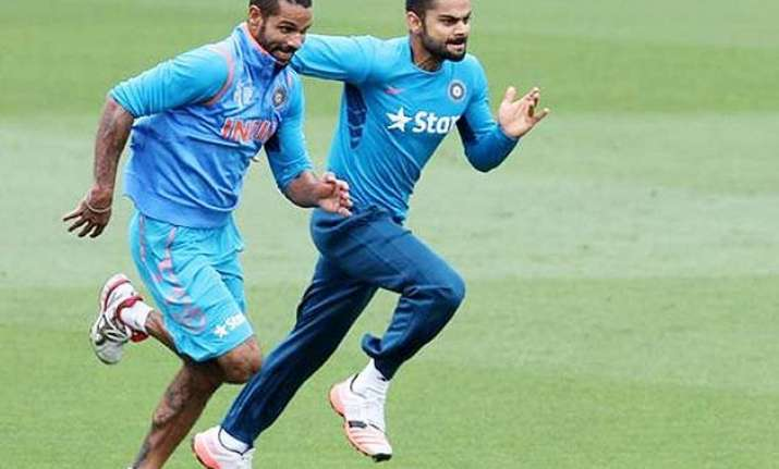 world cup 2015 team india undergo light practice session in