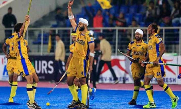 punjab warriors clinch maiden hockey india league title