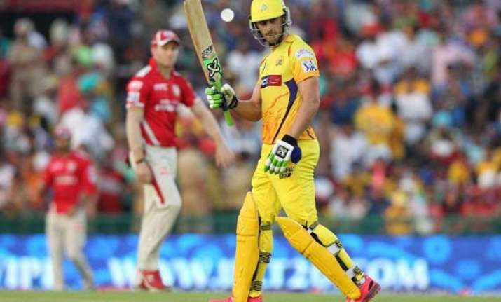 ipl 8 csk crush kxip by 7 wickets top league table