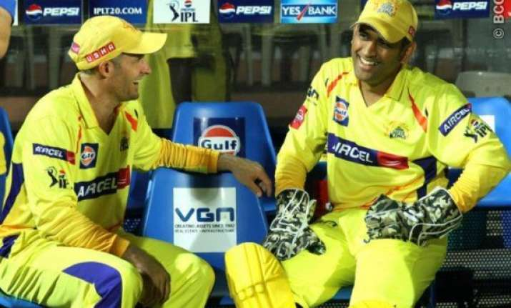 dhoni for hussey as team india s coach