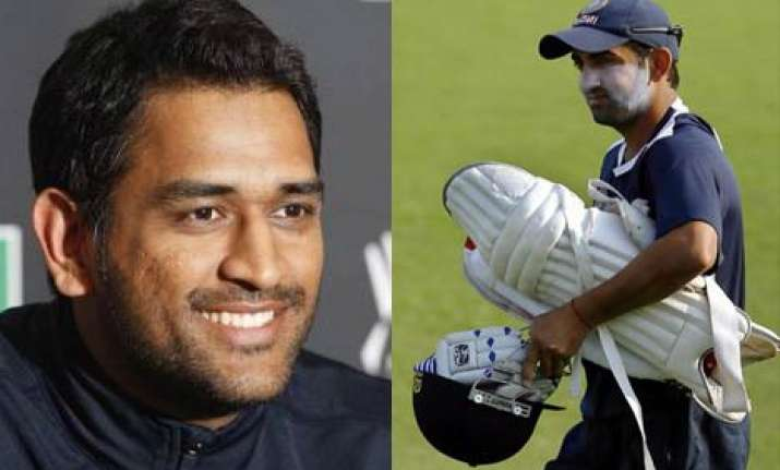 dhoni backs out of form gambhir