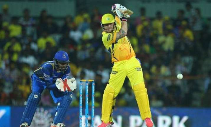 ipl 8 mccullum s 81 lifts chennai to 157/5 against rajasthan