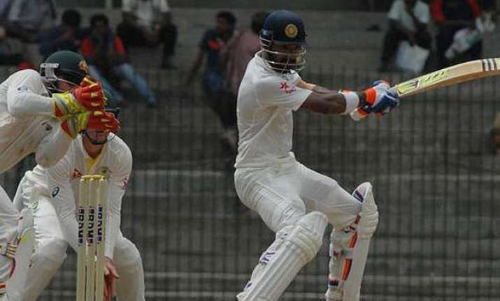 lokesh rahul pujara help india a reach 221/6 on day one