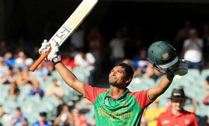 world cup 2015 mahmudullah ton takes bangladesh to 275/7 vs