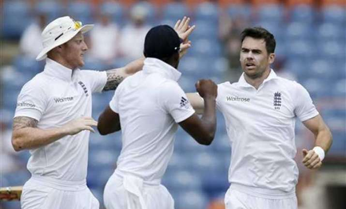wi vs eng anderson leads england charge on last day of 2nd