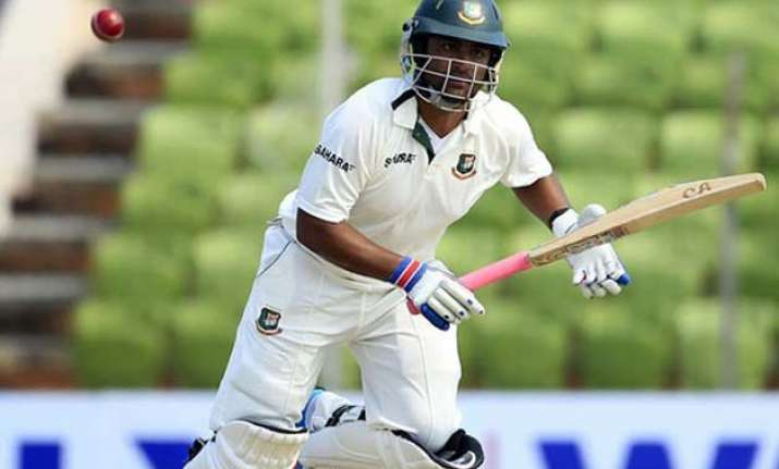 bangladesh 60 1 at lunch on 1st day of 1st test against