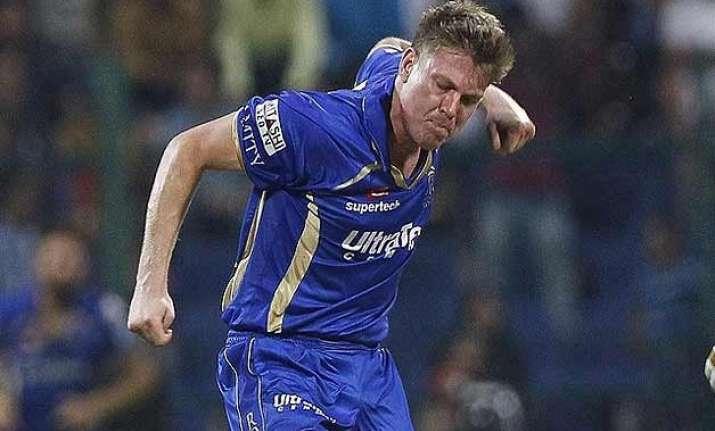 ipl 8 james faulkner stars in rajasthan s 26 run win over