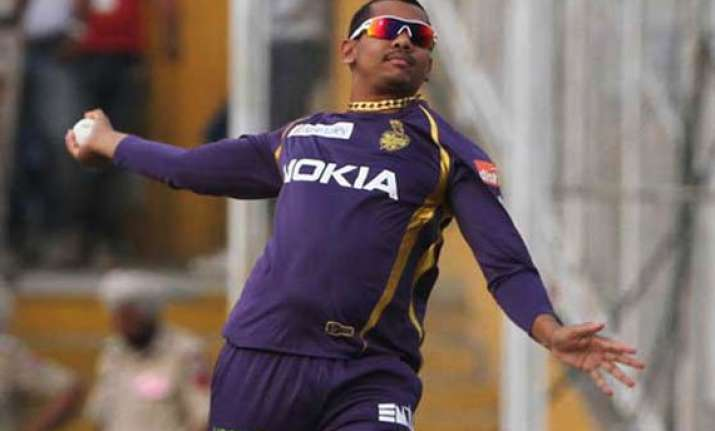 clt20 narine reported again suspended from bowling in final