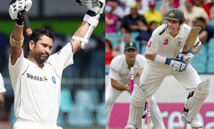 tendulkar inspires hussey to continue in cricket