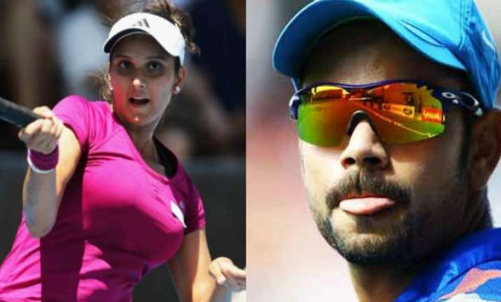 virat kohli sania mirza lead pack of 56 indians in forbes