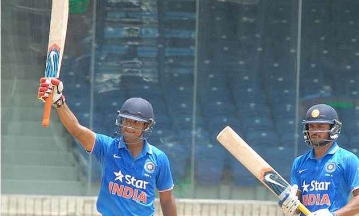 mayank agarwal manish pandey steer india a into tri series