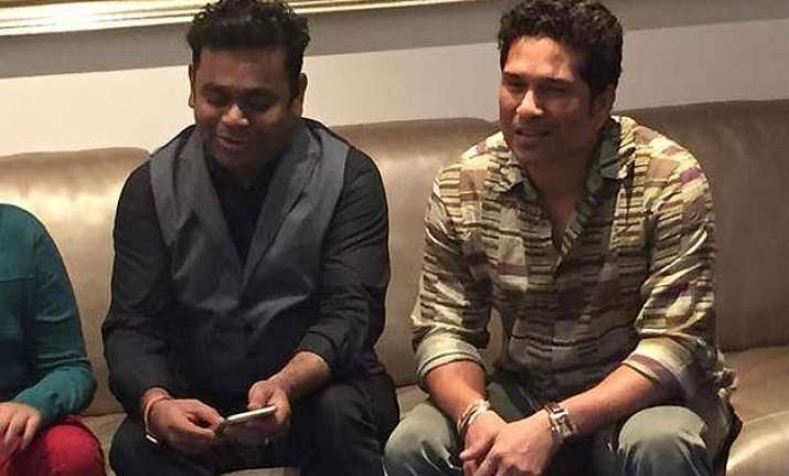 when god of cricket sachin tendulkar met music maestro ar