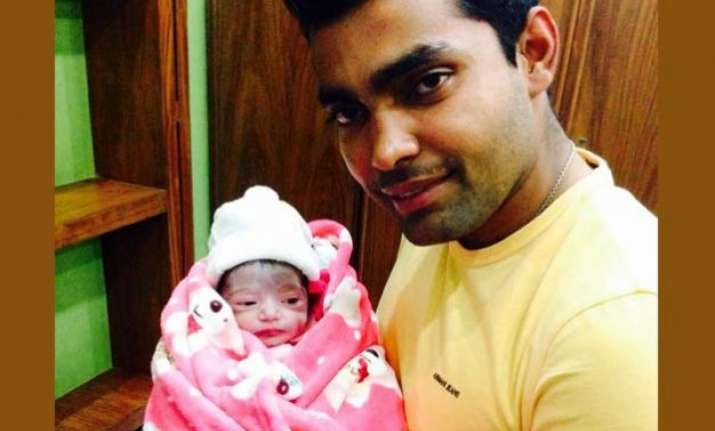 umar akmal amna blessed with a baby girl