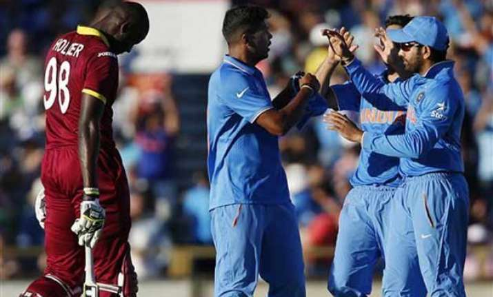 world cup 2015 india bundles west indies out for 182