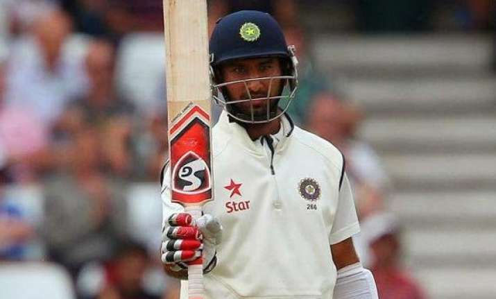 aus vs ind pujara fifty propels india to 223/3 at tea on