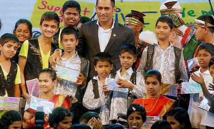 ms dhoni spends time with special children in pune