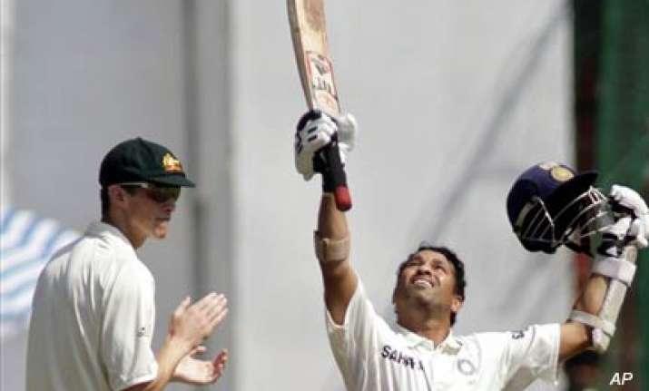 tendulkar completes sixth test double century