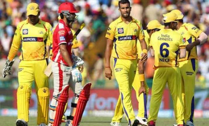 ipl 8 csk bowlers restrict kings xi to 130/7