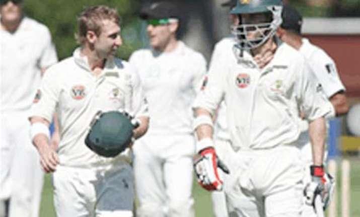 australia demolish new zealand by 10 wickets in wellington