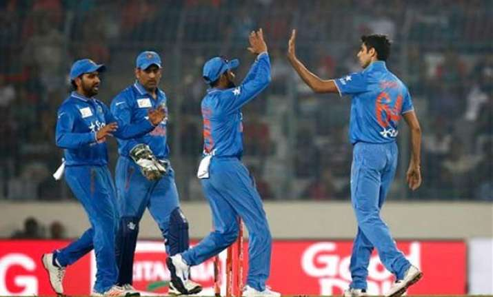 asia cup nehra s 3 23 propel india to 45 run victory over