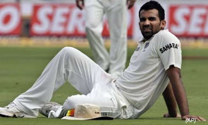 zaheer ruled out of third test unadkat replaces