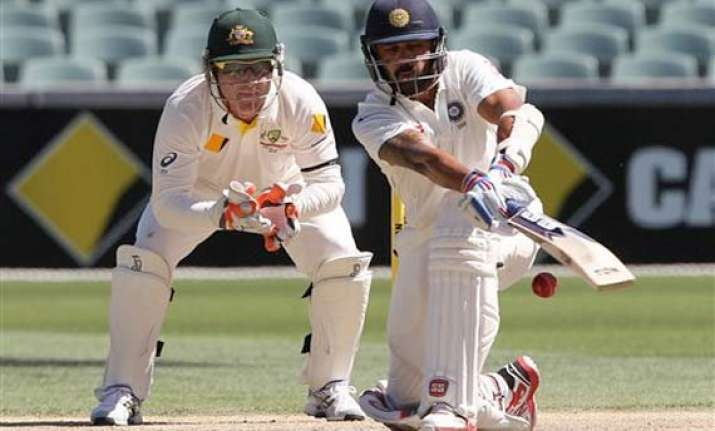 latest updates india 108/1 at stumps trail aus by 422 runs