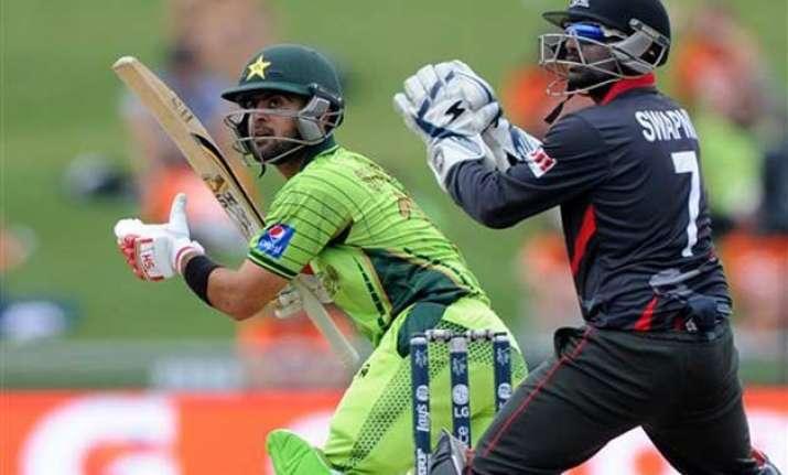 world cup 2015 shehzad sohail take pakistan to 339/6 vs uae