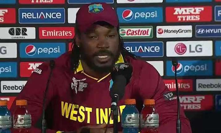 world cup 2015 never felt so much pressure says chris gayle