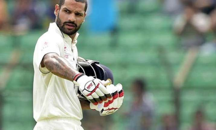 wanted dhawan to play more balls than think about runs dhoni
