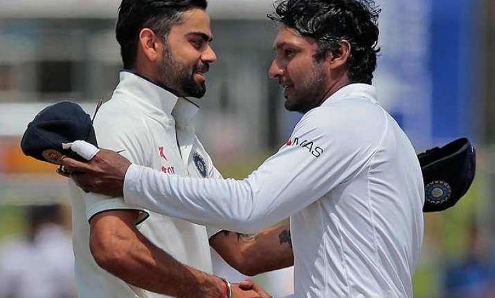 2nd test day 2 kumar sangakkara fails in farewell lankans