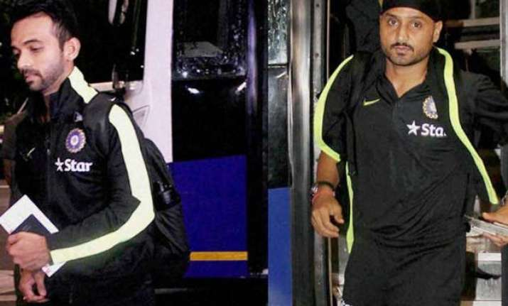 ajinkya rahane led indian cricket team arrives in zimbabwe