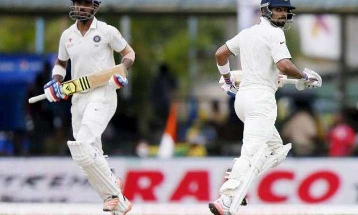 colombo test rahul virat help india post 206/3 against sri