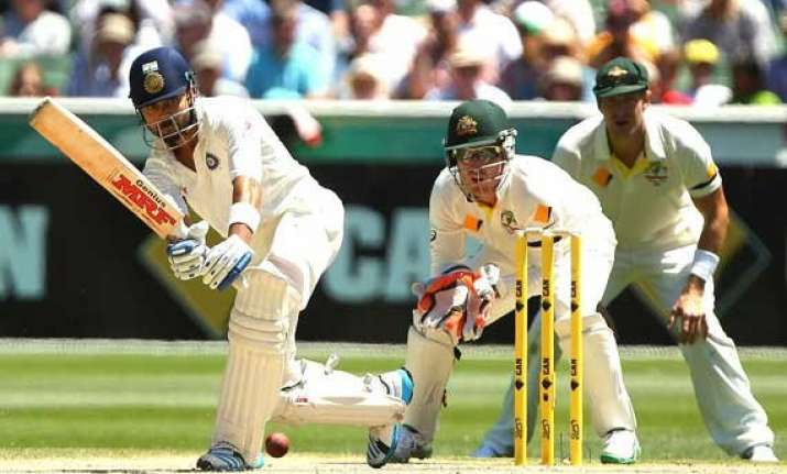 aus vs ind india reaches 224 3 at lunch chasing australia s