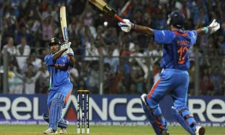 dhoni s world cup winning bat on display