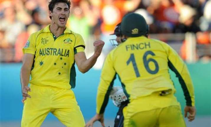 world cup 2015 australia dismisses scotland for 130