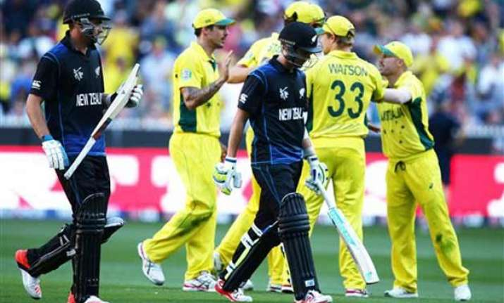 world cup 2015 australia bowls out new zealand for 183 in