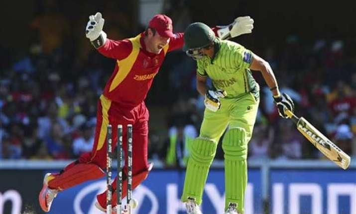 world cup 2015 pakistan vs zimbabwe scoreboard match 23